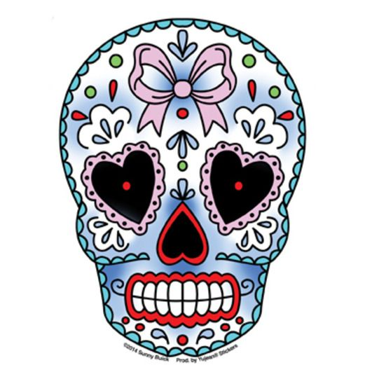 Day of the Dead Favors & Prizes Valentine Sugar Skull Sticker Image