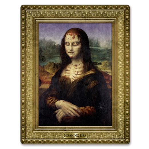 Halloween Decorations Moaning Lisa Painting Cutout Image