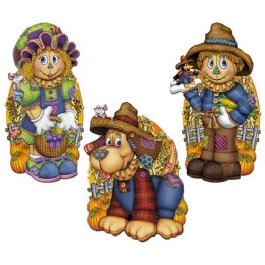 Halloween Decorations Scarecrow Cutouts Image