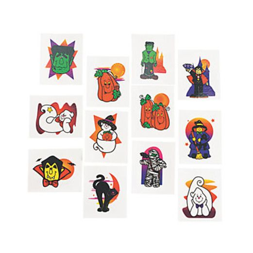 Halloween Favors & Prizes Halloween Tattoos Image