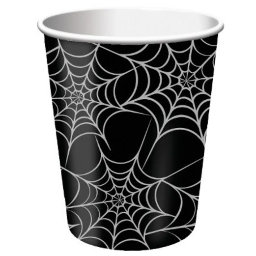 Halloween Table Accessories Spider Web Paper Cups Image