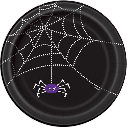 Halloween Table Accessories Spider Web Dessert Plates Image