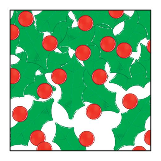Christmas Decorations Holly & Berry Confetti Image