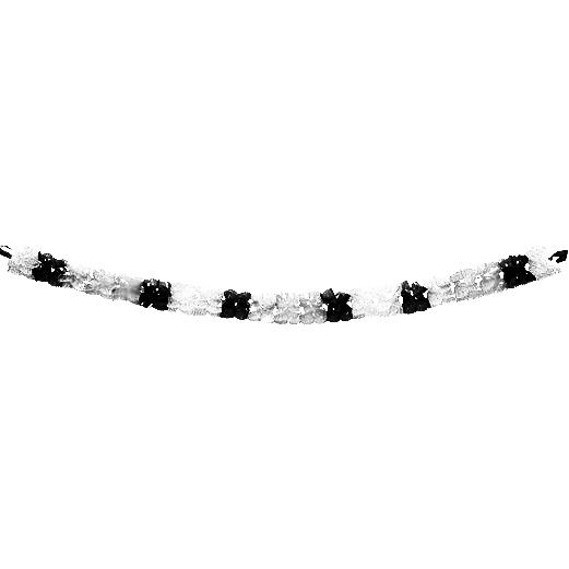 Black and Silver Metallic Garland Image