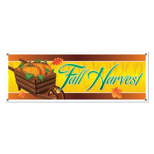 Thanksgiving Decorations Fall Harvest Sign Banner Image