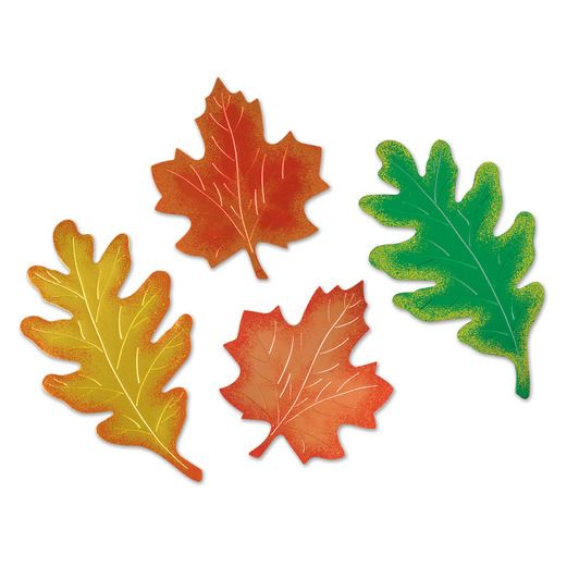 Thanksgiving Decorations Foil Leaf Silhouette Image