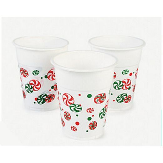Christmas Table Accessories Plastic Holiday Cups Image