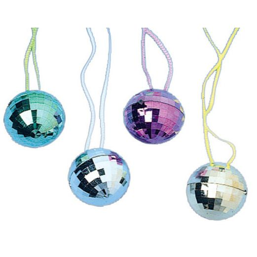 60s & 70s Party Wear Disco Ball Necklaces Image