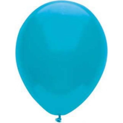 "Balloons 11"" Island Blue Value Balloons Image"