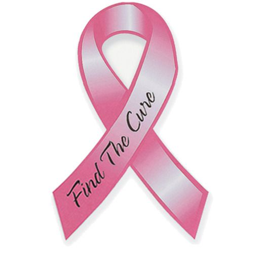 Decorations Pink Ribbon Car Magnet Image