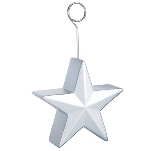 Silver Star Balloon Holder