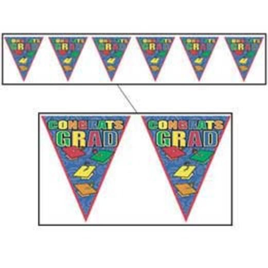 Congrats Grad Pennant Banner