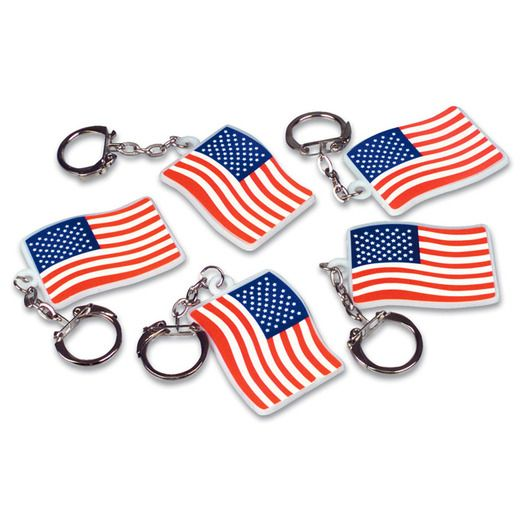 4th of July Favors & Prizes Flag Key Chains Image