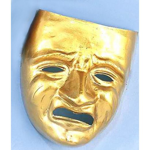 Mardi Gras Party Wear Gold Tragedy Mask Image