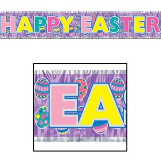 Easter Decorations Metallic Easter Banner Image