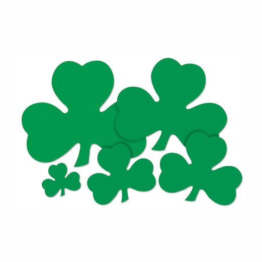 "St. Patrick's Day Decorations 9"" Printed Shamrock Cutout Image"