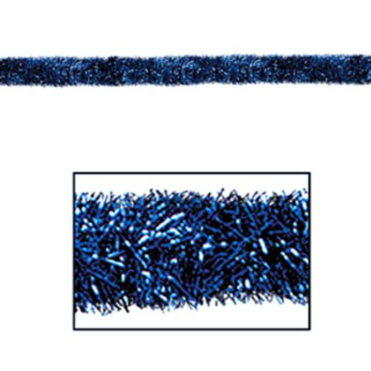 Christmas Decorations Blue 100' Tinsel Garland Image
