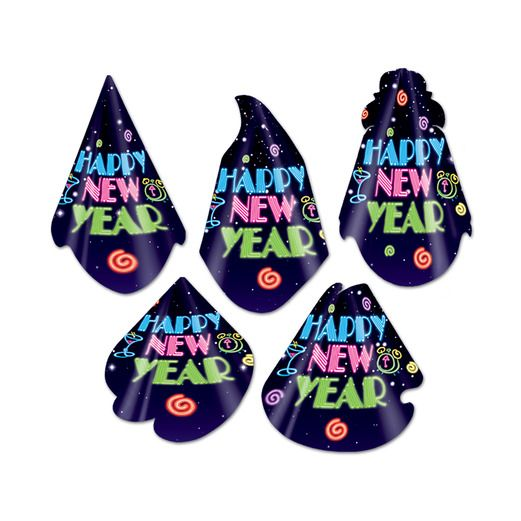 New Years Hats & Headwear Neon Midnight Cone Hat Image