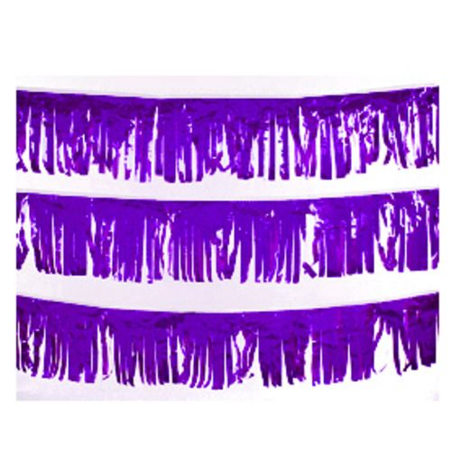 Decorations Purple Metallic Fringe Image
