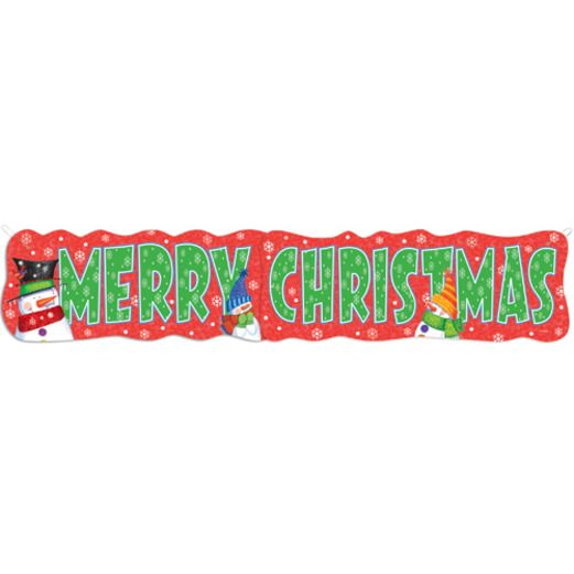 "Christmas Decorations Snowman ""Merry Christmas"" Giant Banner Image"