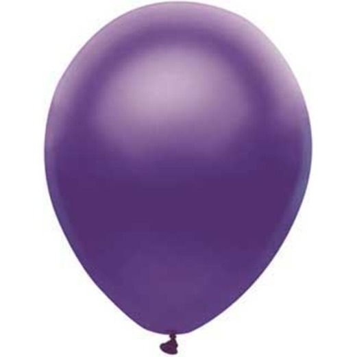 "Mardi Gras Balloons 11"" Satin Purple Value Balloons Image"
