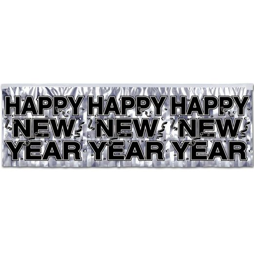 silver new year banner