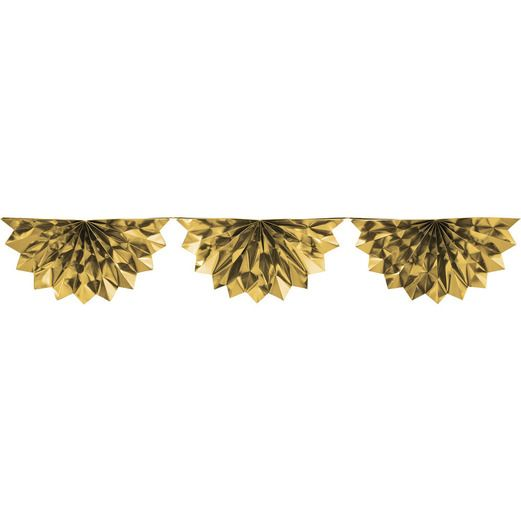 New Years Decorations Gold Foil Bunting Garland Image
