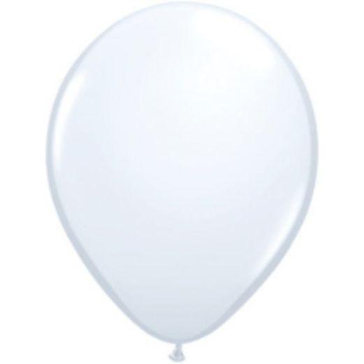 "Balloons 5"" White Balloons Image"