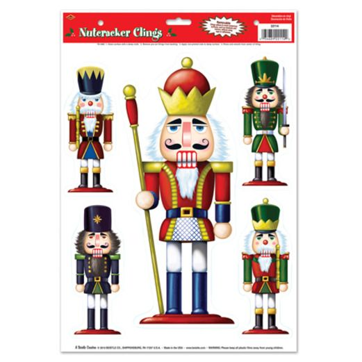Christmas Decorations Nutcracker Clings Image