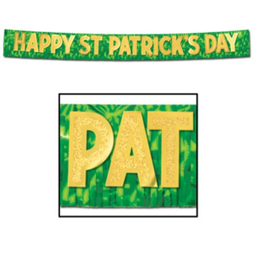 St. Patrick's Day Decorations St. Patrick's Day Metallic Fringe Banner Image