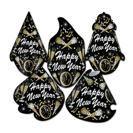 New Years Hats & Headwear New Year Tymes Cone Hat Image