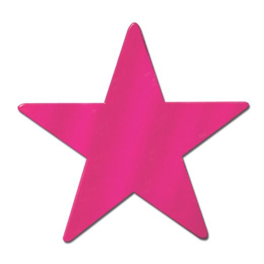 "Fifties Decorations 9"" Cerise Foil Star Image"