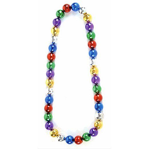 Mardi Gras Party Wear Mirror Ball Beaded Neckace Image