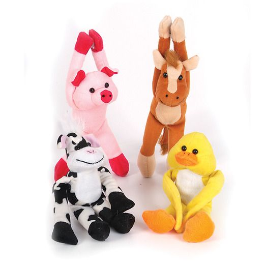 Favors & Prizes Plush Hanging Barnyard Animals Image