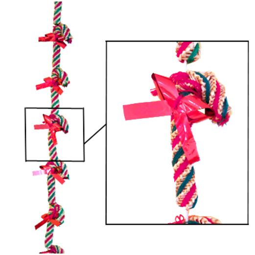 Christmas Decorations Wicker Candy Cane Garland Image