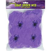 Halloween Decorations Giant Purple Spider Web Image