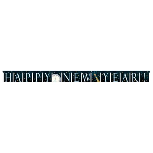 New Years Decorations Champagne Swirl Banner Image