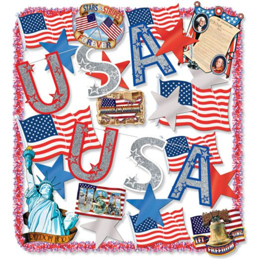 4th of July Patriotic Trimorama Image