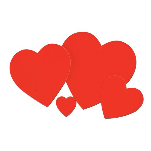 "Valentine's Day Decorations 4"" Printed Heart Image"