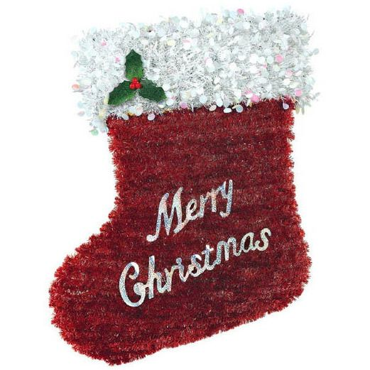 Christmas Decorations Tinsel Christmas Stocking Image