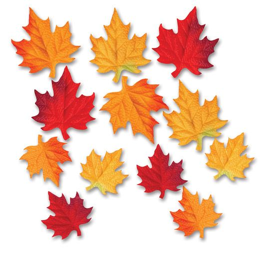 Thanksgiving Decorations Fabric Autumn Leaves Cutouts Image