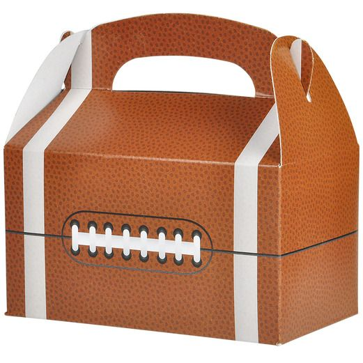 Sports Gift Bags & Paper Football Treat Boxes Image