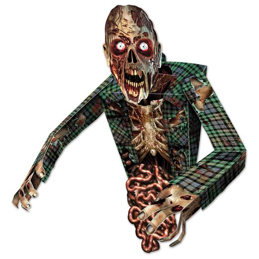 Halloween Decorations 3-D Zombie Wall Decoration Image
