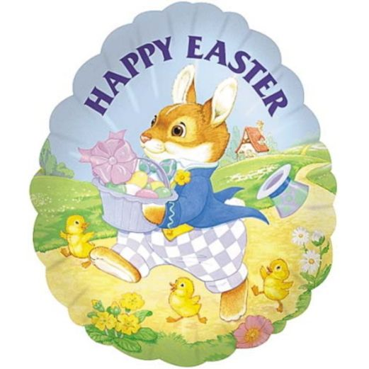 Easter Balloons Happy Easter Rabbit Mylar Balloon Image