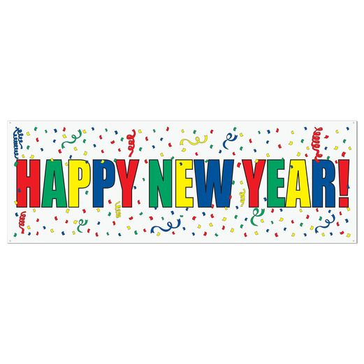 New Years Decorations Happy New Year Sign Banner Image