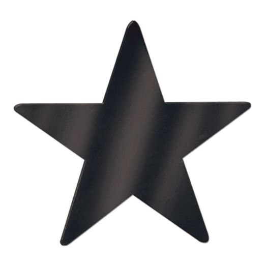 "New Years Decorations 15"" Black Foil Star Image"