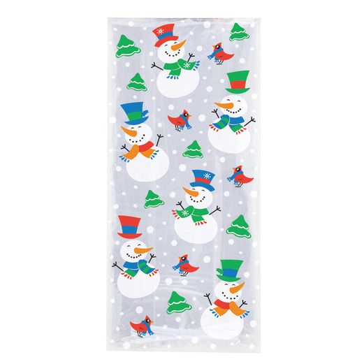 Christmas Gift Bags & Paper Snowman Cello Bags Image