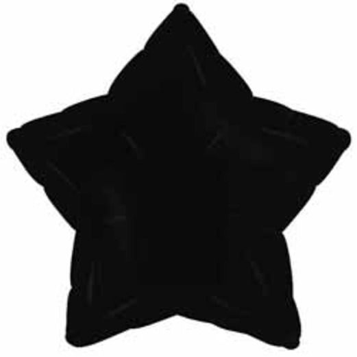 New Years Balloons Black Star Mylar Balloon Image