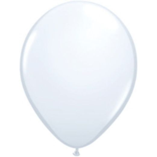 "Balloons 16"" White Balloons Image"