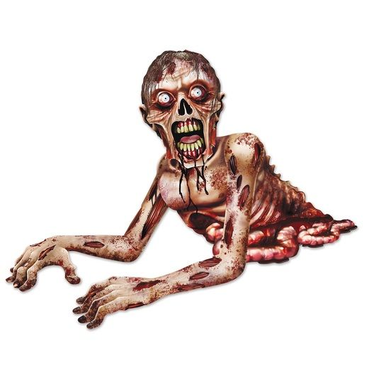 Halloween Decorations Jointed Zombie Crawler Image
